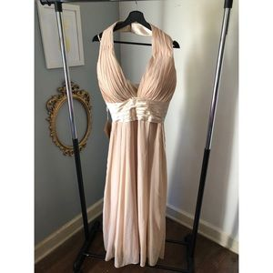 JJ's House size 14 champagne colored long dress